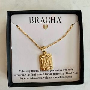 70a267dc5 Jewelry | Bracha Initial Card Necklace Letter M | Poshmark